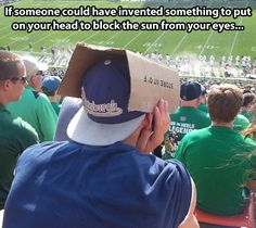 Because turning your hat around would cause the swag to drop down to dangerous levels...
