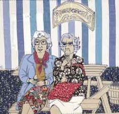 Image: picture by Laura McCafferty of two ladies eating icecreams at a picnic table Freehand Machine Embroidery, Free Motion Embroidery, Embroidery Ideas, A Level Textiles, Fabric Postcards, Arts Award, Thread Painting, A Level Art, Textile Artists