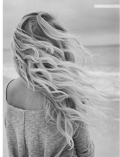 Wavy Beach Hair... Love Waves in the Ocean too!! LOL
