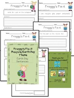 Froggys Fix-it!  Earth Day!- first graders can edit sentences.