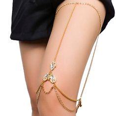 Goddess Rhinestone Thigh Chain