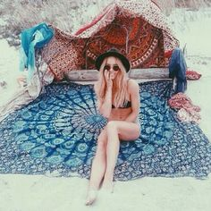 Hippie beach blanket