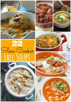 22 Amazingly delicious Fall Soup Recipes you can make in your crockpot!! -- Tatertots and Jello