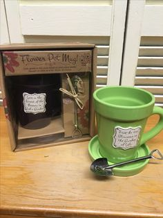 New gift arrival coffee cup with fun shovel spoon.  #FantasyFlowers 262-242-3732