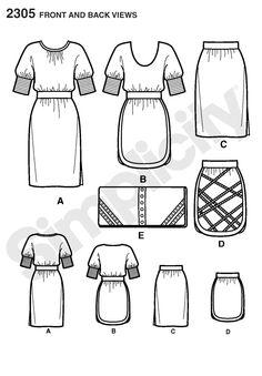 Simplicity - Cynthia Rowley - 2305 - nic skirt