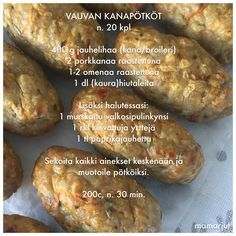 Vauvan kanapötköt Baby Food Recipes, Wine Recipes, Cooking Recipes, Toddler Meals, Kids Meals, Curry D'aubergine, Finnish Recipes, Baby Led Weaning, Yams
