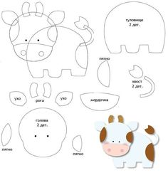 Making Your Own Plushies: Felt Toys - So Crafty Quiet Book Templates, Felt Templates, Applique Templates, Applique Patterns, Card Templates, Felt Animal Patterns, Stuffed Animal Patterns, Felt Crafts Diy, Felt Quiet Books