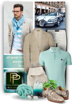 chicerman.com  paulparkman:  Exquisite Menstyle - Paul Parkman Shoes by christiana40 featuring white pants  White pants / Brunello Cucinelli backpack / Cashmere scarve / Ray-Ban sunglasses / BURBERRY BRIT Embroidered Logo Polo Shirt / Faconnable Ecru Slim-Fit Suede Blazer / Paul Parkman Mens Natural Genuine Python (snakeskin) Ghillie Lacing / Cartier perfume  #menshoes
