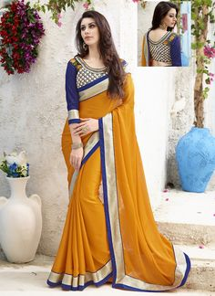 http://www.sareesaga.in/index.php?route=product/product&product_id=20369 Style:Designer Saree Shipping Time:10 to 12 Days Occasion:Party Festival Reception Fabric:Chiffon Satin Colour:Mustard Work:Embroidered Resham Work Lace For Inquiry Or Any Query Related To Product,  Contact :- +91 9825192886