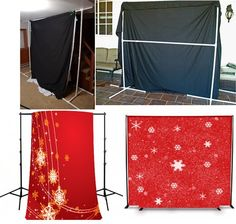 DIY Holiday Photo Backdrop | Fake snow, Snow and Photo booths