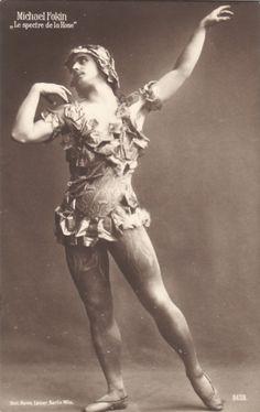 Vaslav Nijinsky in Micheal Fokine's Spectre de la Rose, Ballet Russe