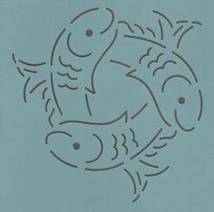 """Fish In A Circle 4"""" - The Stencil Company"""