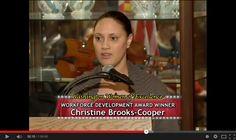 President Christine Brooks-Cropper, the winner of Washington Women of Excellence Workforce Development Award