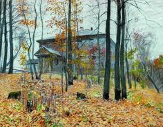 Isaac Levitan (1860-1900), Autumn. The Manor (n.d.), pastel on paper. Via WikiArt.