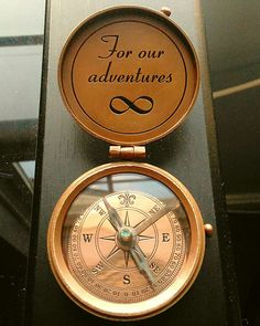 Nautical Compas With Personalized Quote and Infinity Symbol engraved, the perfect gift. Working Compass, Pocket Compass, Handmade Wedding Gifts, Christmas Party Favors, Nautical Gifts, Before Wedding, Corporate Gifts, Groomsman Gifts, Vintage Gifts