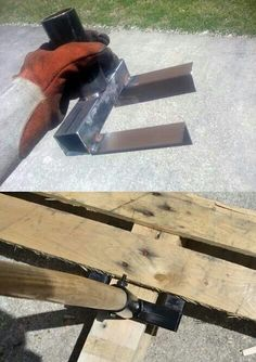 "How to build a tool that helps take apart wood pallets . When searching for wood pallets suitable to be reused, look for a stamped "" HT "" HEAT TREATED"