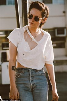 Kristen Stewart in new video for The Rolling Stones comeback single Ride 'Em On Down   Daily Mail Online