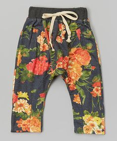 Love this Hannah & Lolly Navy Floral Harem Pants - Toddler & Girls by Hannah & Lolly on #zulily! #zulilyfinds