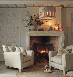Hedgerow * A/W 2014 * Laura Ashley * Home Collection * Mantle * Cupboard * Candle * Ceiling