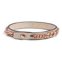 COACH nude leather bracelet found at Nudevotion.com