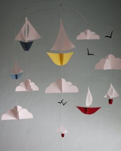 Nautical Sailboats Paper Mobile