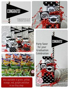 Fabulous #GraduationParty  favor, gift and/or centerpiece   Personalize with the Grad's name! #Graduation