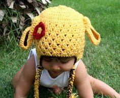 toddler gift animal hat  baby hat easter hat  LAMB by Ebruk