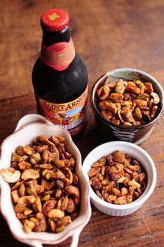 spiced pistachios & cashews--extra crunchy!  these would make a great holiday gift and are perfect with a cold beer | Blue Jean Gourmet