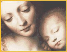 Madonna & Child [PS-INS28] - $20.00 : Mystic Stitch Inc, The fine art of counted cross stitch patterns