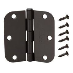 Everbilt 3-1/2 in. x 5/8 in. Radius Oil-Rubbed Bronze Door Hinge (12 per Pack)-13684 - The Home Depot