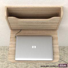 Настенный стол откидной AirTable Дуб СОНОМА, - ателье компьютерной мебели