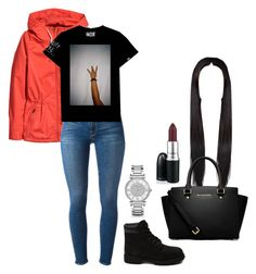 """""""Fall"""" by caressaharris ❤ liked on Polyvore featuring H&M, Frame Denim, Timberland, MICHAEL Michael Kors and Michael Kors"""