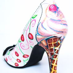 okay this time i definitely wee'd a little!!!    Hand Painted Cherry Shoes with Ice Cream Heels by Love, Miranda Marie.  Yum! :)