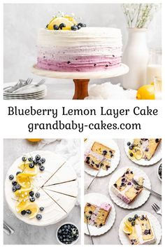 Imagine layers of tender lemon cake bursting with fresh blueberries that are coated in a tangy, blueberry-hinted cream cheese frosting! This vibrant Blueberry Lemon #Cake recipe is an ultra-moist, refreshing dessert! #blueberry #lemon Delicious Cake Recipes, Best Dessert Recipes, Cupcake Recipes, Yummy Cakes, Fun Desserts, Cupcake Cakes, Lemon Desserts, Quick Recipes, Summer Recipes