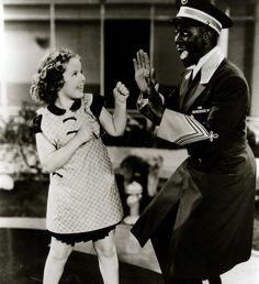 Shirley Temple and Bill 'Bojangles' Robinson