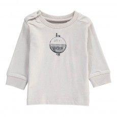 T-Shirt Cotone Bio Giorno Notte Grigio chiaro. Imps&Elfs.