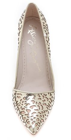 alice + olivia Dina Laser Cut Mirrored Pumps | SHOPBOP SAVE 25% use Code:FAMILY25