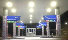 HITECNICO 120W LED Canopy Lights successful project for petrol station lighting in Thailand.