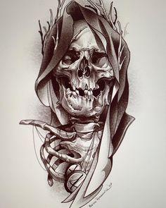 Tattoo Design Drawings, Skull Tattoo Design, Tattoo Sleeve Designs, Tattoo Sketches, Skull Design, Sleeve Tattoos, Skull Hand Tattoo, Skull Tattoos, Star Tattoos