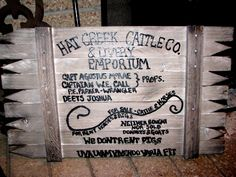 Hat Creek Cattle Company Lonesome Dove Replica Sign