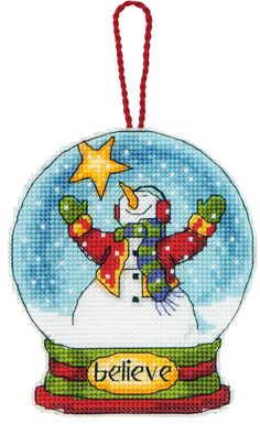 Kit Contains: Plastic canvas, thread, needle, chart and full instructionsType: Counted Cross Stitch KitFabric: 14 count plastic canvasSize: 11cm x9...