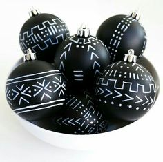 Kuba print ornaments