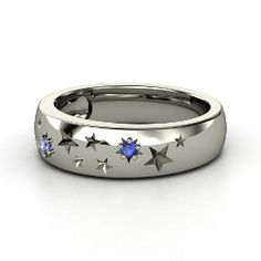 Written in the Stars Ring, Round Sapphire Sterling Silver Ring from Gemvara-want it