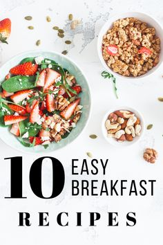10 Breakfasts Under 300 Calories | Looking for quick and easy breakfast ideas that are healthy and filling? Perfect for weight loss, we've included plenty of make ahead healthy breakfast recipes to ensure you have simple, high protein options when you're on the go. Whether you like your breakfast with eggs or without eggs, need keto low carb recipes for one, or need meal prep ideas for a crowd, we've got you covered! #healthybreakfast #under300calories #breakfastrecipes… Healthy Breakfast Recipes, Brunch Recipes, Healthy Snacks, Breakfast Ideas, Healthy Eating, Healthy Recipes, Healthy Breakfasts, Delicious Recipes, Low Carb Recipes