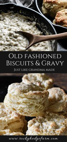 Bisquits And Gravy, Gravy Recipe For Biscuits, Best Homemade Biscuits, Homemade Sausage Gravy, Easy Gravy Recipe, Sausage Gravy And Biscuits, Biscuit Recipe, Sausage Gravy Recipe From Scratch, American Biscuits Recipe