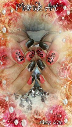 #nail #nailart #design #flower #corail #summer #original