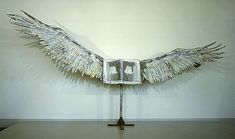 Anselm Kiefer- Das Buch 1985 Sculpture; Mixed media/assemblage/collage, Lead, steel, and tin 114 x 213 1/2 x 34 in. (289.56 x 542.29 x 86.36 cm)