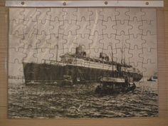 """Puzzle MS """"BREMEN"""" 1929 - Ausschnitt aus der Radierung"""