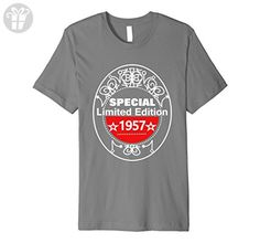 Mens Funny Novelty 60th Birthday Limited Edition 1957 T-Shirts 3XL Slate - Birthday shirts (*Amazon Partner-Link)