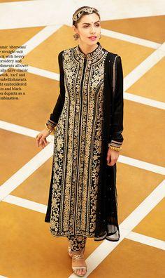 Attractive #Black Color Salwar Kameez